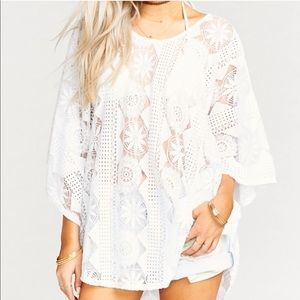 MOON TUNIC ~ FLOWER POWER LACE WHITE